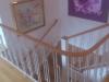 Läderlindat trappräcke